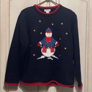 Vintage Christopher & Banks Snowman Ugly Sweater